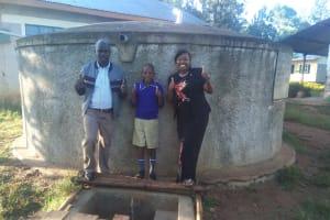 The Water Project: Iyenga Primary School -  Headteacher Christopher Birgen Zebedee Alubitsia And Field Officer Jacklyne Chelagat