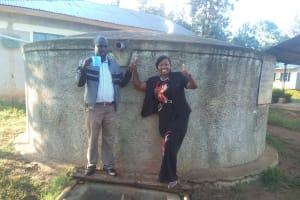 The Water Project: Iyenga Primary School -  Headteacher Christopher Birgen And Field Officer Jacklyne Chelagat