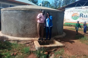 The Water Project: Iyenga Primary School -  Thumbs Up For Reliable Water