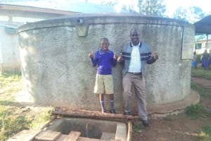 The Water Project: Iyenga Primary School -  Zebedee Alubitsia And Headteacher Christopher Birgen