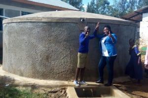 The Water Project: Iyenga Primary School -  Zebedee Alubitsia And Field Officer Jacklyne Chelagat