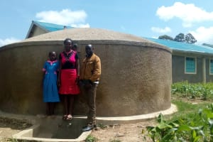 The Water Project: Maganyi Primary School -  Diana Mukhono Sheila Msilivi And Field Officer Wilson Kipchoge