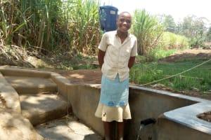 The Water Project: Shitoto Community, William Manga Spring -  Elizabeth Alumasa