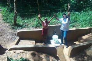 The Water Project: Irenji Community, Shianda Spring -  Briavin Mumala And Jacklyne Chelagat