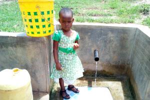 The Water Project: Futsi Fuvili Community, Shikanga Spring -  Young Girl At The Spring