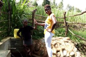 The Water Project: Futsi Fuvili Community, Patrick Munyalo Spring -  Stella Anne And Field Officer Jemmimah Kohasoha