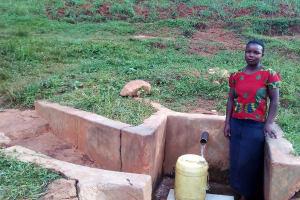 The Water Project: Simuli Community, Lihala Sifoto Spring -  Irene Munyasa