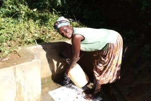 The Water Project: Emusanda Community, Walusia Spring -  Angelina Omumia