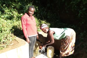 The Water Project: Emusanda Community, Walusia Spring -  Clare Musilivi And Angelina Omumia
