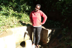 The Water Project: Emusanda Community, Walusia Spring -  Clare Musilivi