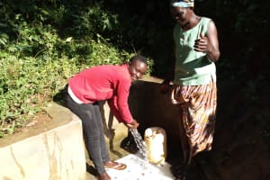 The Water Project: Emusanda Community, Walusia Spring -  Reliable Water