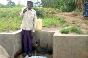 The Water Project: Shikoti Community, Amboka Spring -  Bassiliano Amboka