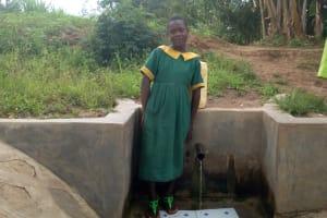 The Water Project: Shikoti Community, Amboka Spring -  Bridgit Shiundu