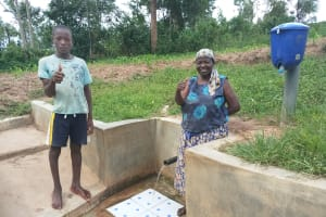 The Water Project: Mulundu Community, Fanice Mwango Spring -  Bonface Ouko And Rose Atira