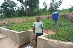 The Water Project: Mulundu Community, Fanice Mwango Spring -  Bonface Ouko