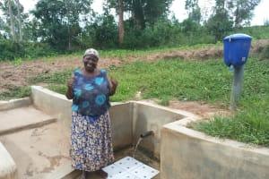 The Water Project: Mulundu Community, Fanice Mwango Spring -  Rose Atira
