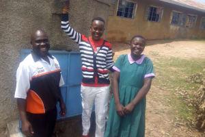 The Water Project: Chandolo Primary School -  Bernard Madafu Field Officer Lillian Achieng And Brillian Lwane