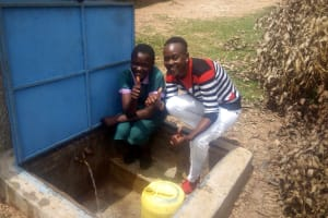 The Water Project: Chandolo Primary School -  Thumbs Up For Reliable Water