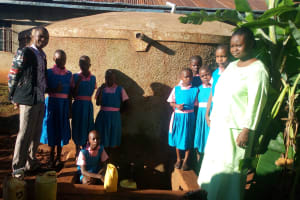 The Water Project: Mudete Primary School -  Robert Amiani And Students At The Tank