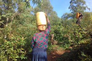The Water Project: Gidagadi Community, Anusu Spring -  Lydia Sayo Carries Water Home