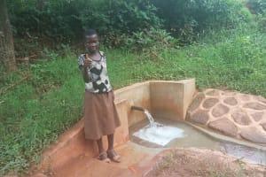 The Water Project: Mtao Community, Tifina Odari Spring -  Mitchell Lumbasi