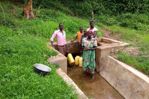 The Water Project: Ejinga-Ayikoru Community -  People Fetching Water