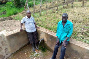 The Water Project: Rwempisi-Amanga Community -  Joshua And Stephen Exchanging Ideas