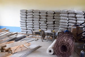 The Water Project: Kithoni Secondary School -  Materials We Delivered To The School