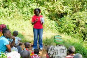 The Water Project: Mungakha Community, Nyanje Spring -  Trainer Jacky