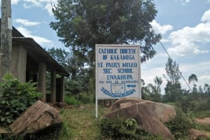 The Water Project: Lwakhupa Mixed Secondary School -  School Sign