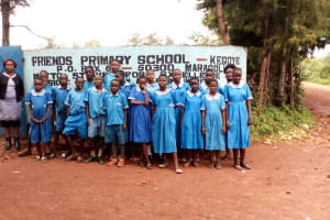 The Water Project: Kegoye Primary School -  Students At The School Gate