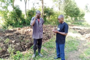 The Water Project: Sambuli Community, Nechesa Spring -  Interviewing A Community Member