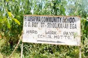The Water Project: Elufafwa Community School -  School Sign