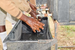 The Water Project: Kithoni Secondary School -  Handwashing Station