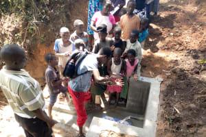 The Water Project: Mungakha Community, Asena Spring -  Handwashing Training