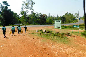 The Water Project: Esibila Secondary School -  Out To Fetch Water