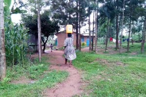 The Water Project: Bukhakunga Community, Ngovilo Spring -  Reaching Home With Water From The Spring