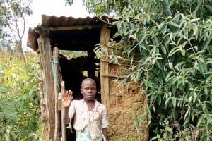 The Water Project: Mukhuyu Community, Kwakhalakayi Spring -  Latrine
