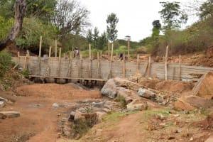The Water Project: Kaliani Community -  Sand Dam Construction