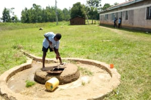 The Water Project: Khabukoshe Primary School -  Fetching Water
