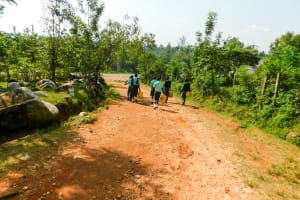 The Water Project: Esibila Secondary School -  Going To Fetch Water
