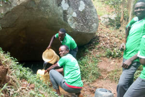 The Water Project: Chebunaywa Secondary School -  Fetching Water