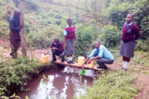 The Water Project: Koitabut Secondary School -  Fetching Water