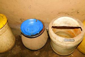 The Water Project: Wajumba Community, Wajumba Spring -  Water Storage