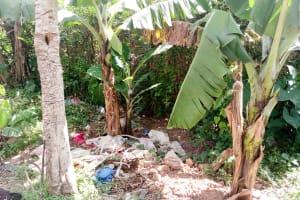 The Water Project: Mukhuyu Community, Kwakhalakayi Spring -  Trash Piles