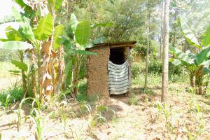 The Water Project: Emukoyani Community, Ombalasi Spring -  Latrine