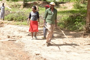 The Water Project: Ndithi Community A -  Already Gathering Materials To Help Build