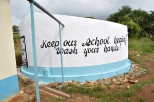 The Water Project: Kithoni Secondary School -  Finished Tank