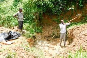 The Water Project: Mungakha Community, Nyanje Spring -  Excavation