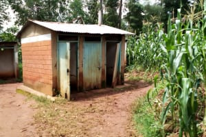The Water Project: Kegoye Primary School -  Latrine Block